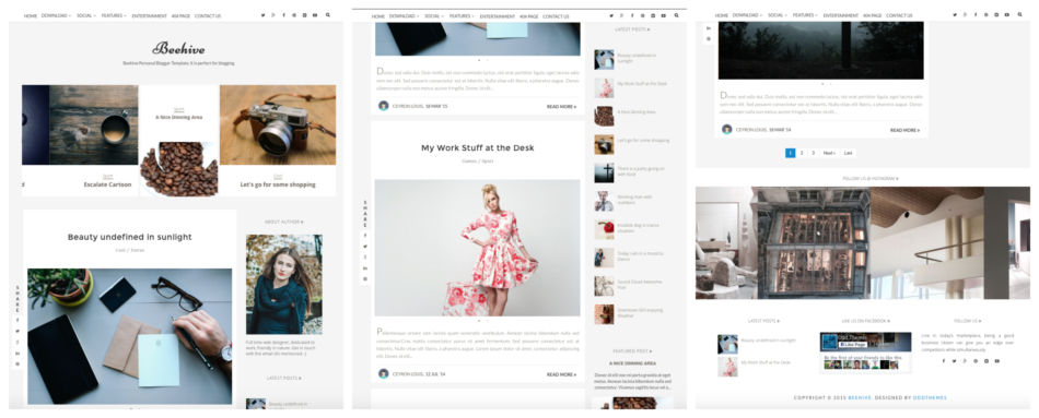 Tema per blog su piattaforma Blogger.