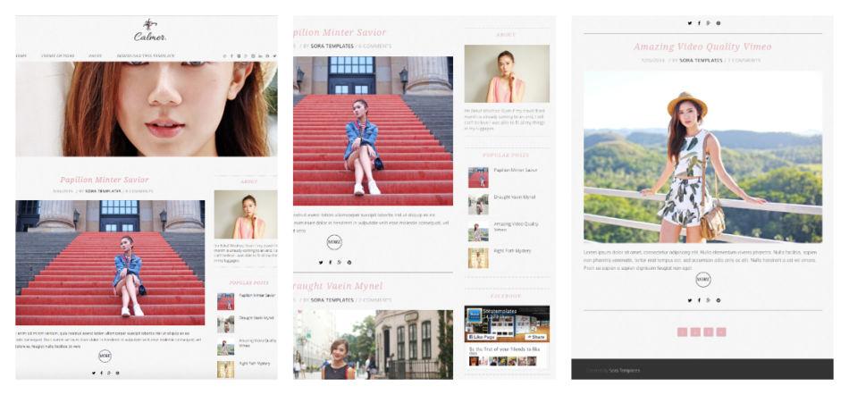 Template gratuito per blog su Wordpress.