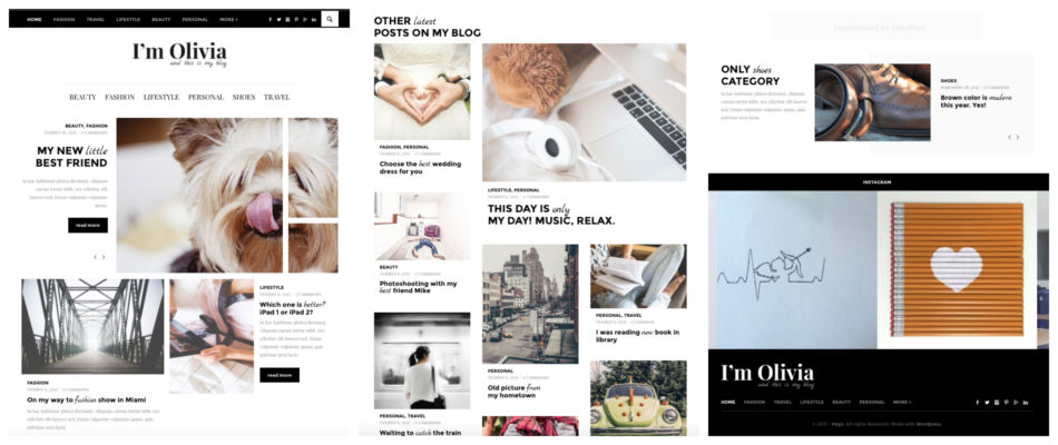 Tema responsive per blog su Wordpress.