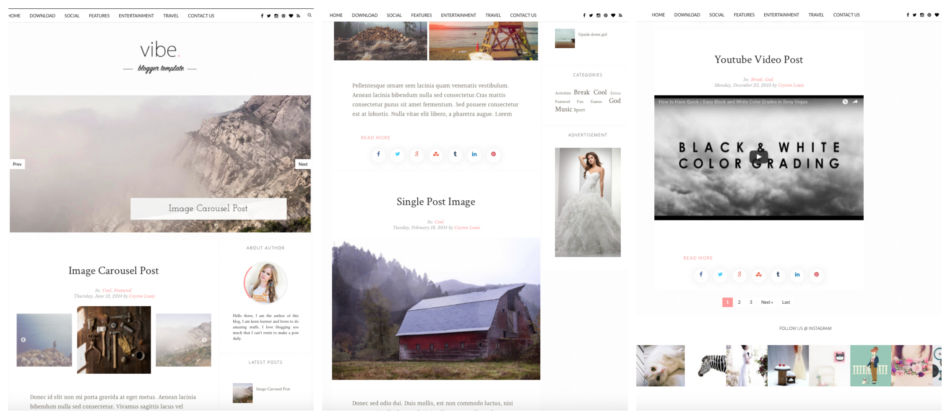 Migliori template per blog su piattaforma Blogger.