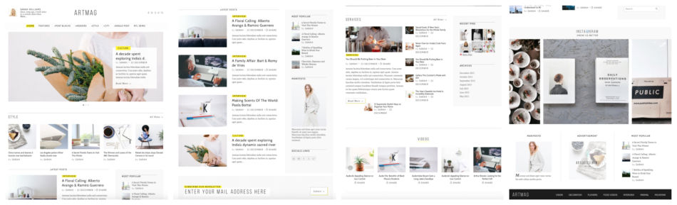 Template per blog Wordpress.