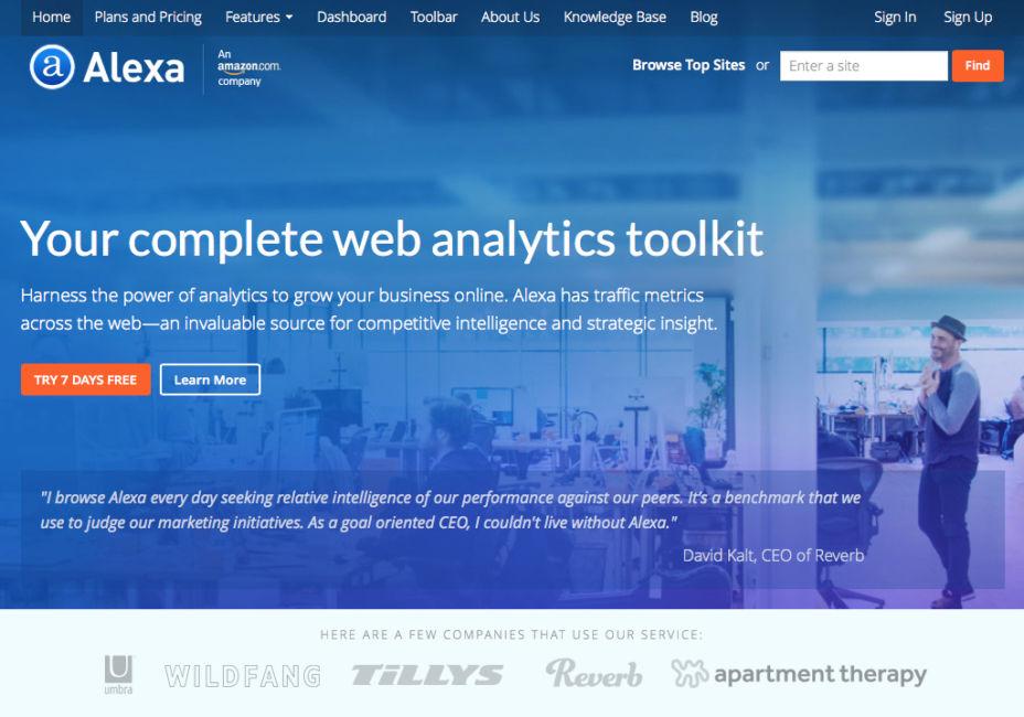 Home Page Alexa.