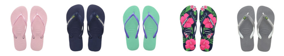 Havaianas collection shoe models..