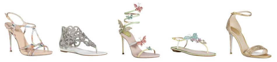 Rene Caovilla shoe models sandals.