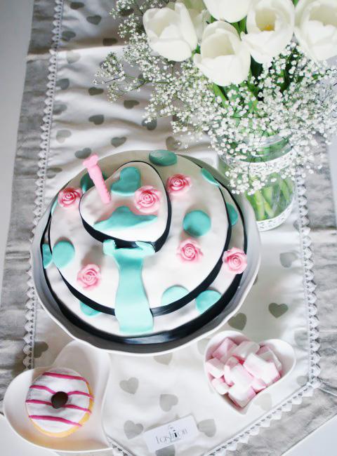 Come fare una torta personalizzata a tre piani.