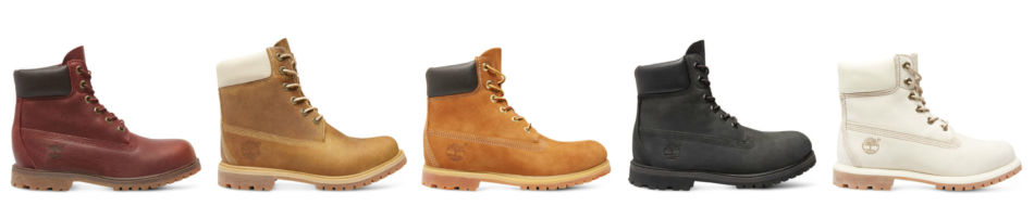 Shoe models Timberland boots.