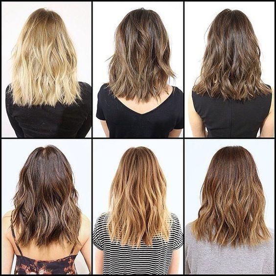 Come comportarsi dal parrucchiere. Ispirazioni taglio e colore capelli medi.
