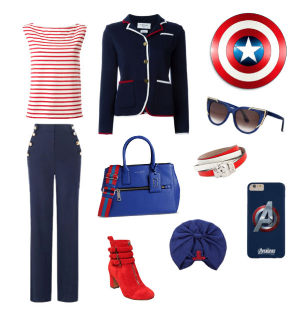 Captain America inspiration style.
