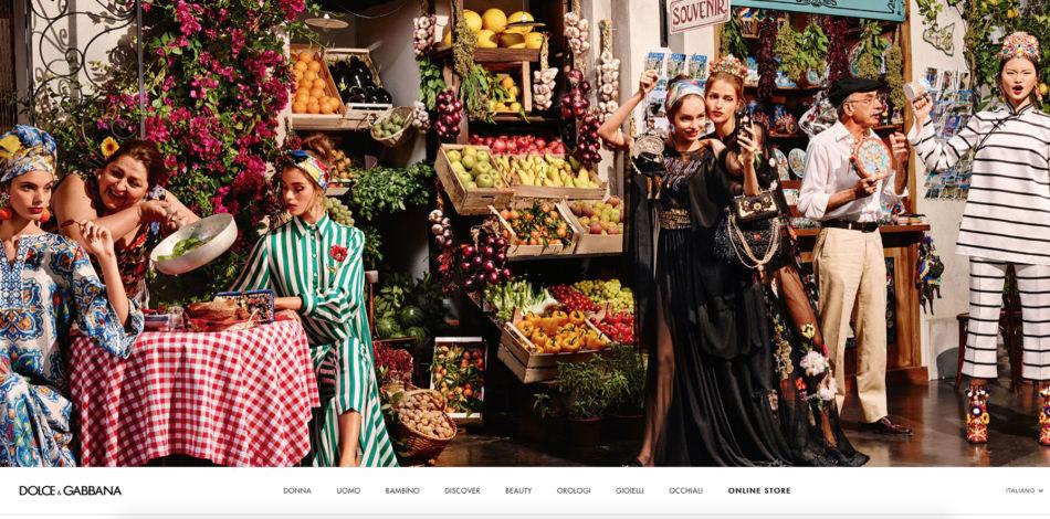 Dolce & Gabbana test di moda.