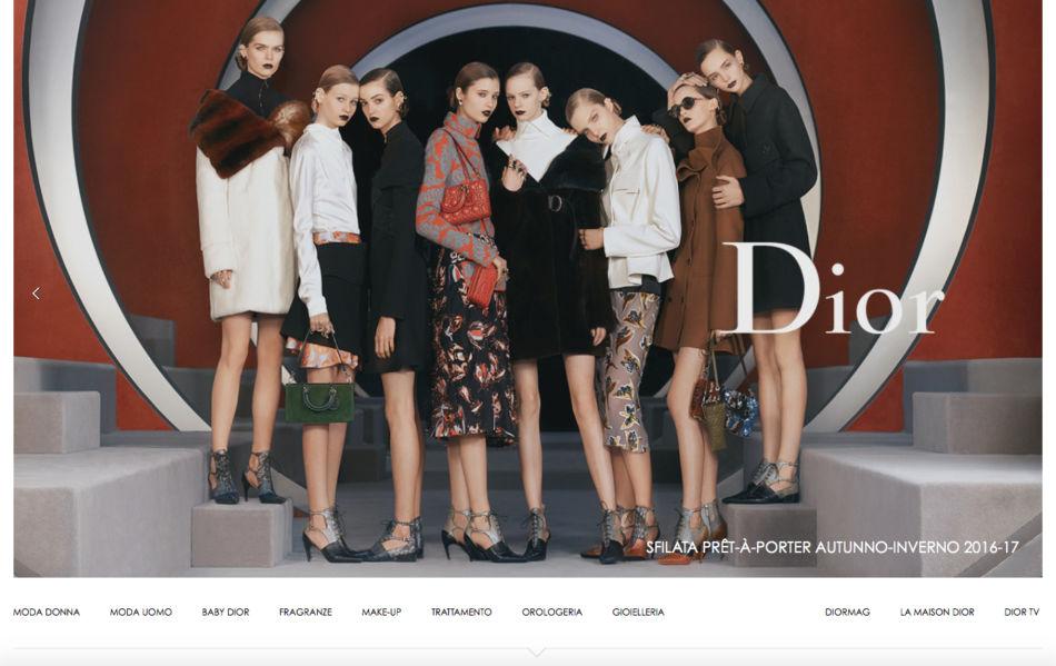 Test di moda luxury brand preferito Dior.