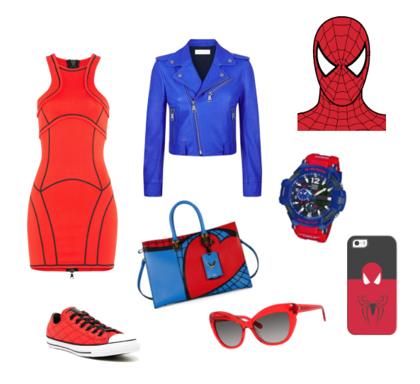Spiderman inspiration style outfit.