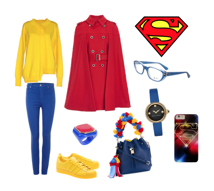 Superman inspiration style outfit.