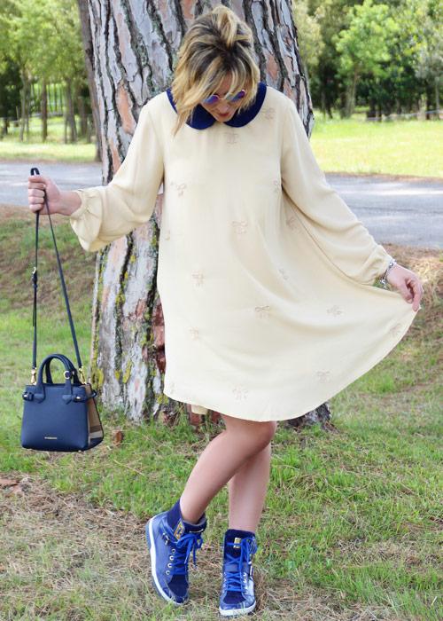 Outfit abito bon ton.