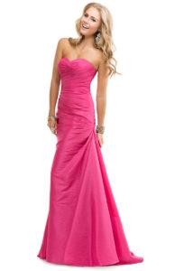 Pink evening dress.