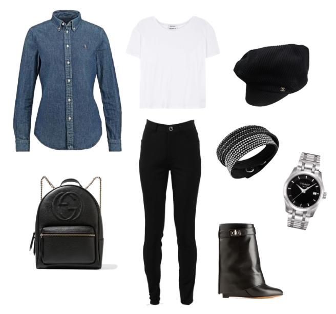 Come indossare la camicia di jeans in un outfit street style.