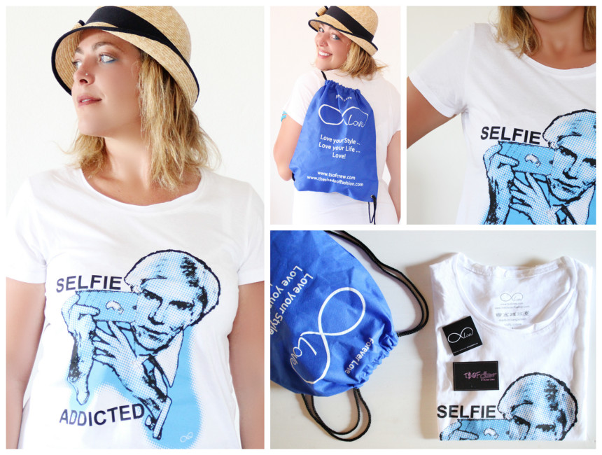 T-shirts Selfie Addicted della linea Forever-love T.S.o.F. CREW by Iolanda Corio.