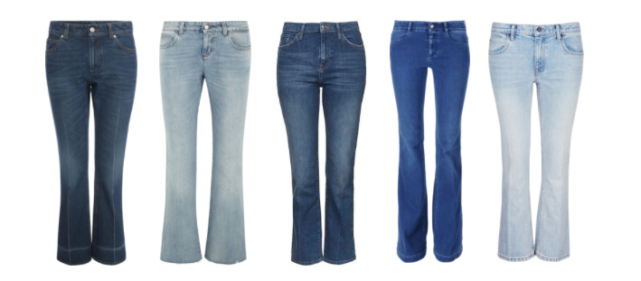 Boot Cut o Flare denim pants.