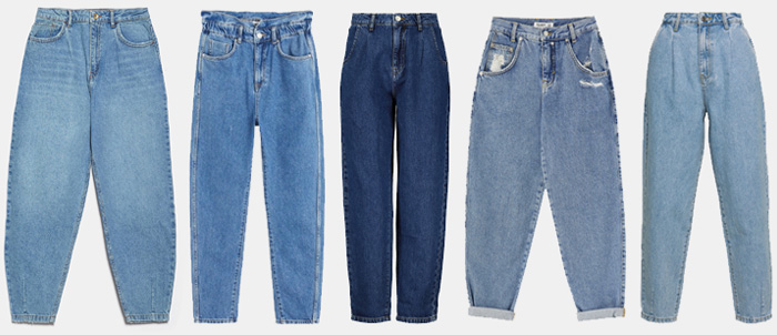 Slouchy trendy models of jeans.