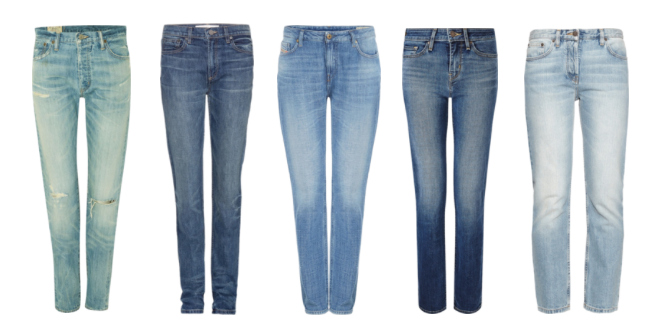 Pantaloni in denim modello Straight.