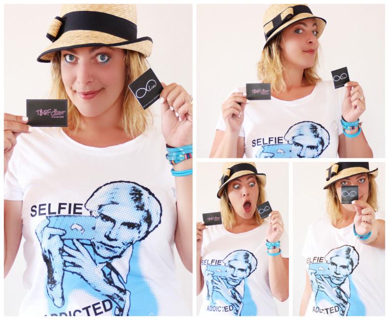 T-shirt Selfie Addicted della linea Forever-love T.S.o.F. CREW by Iolanda Corio.