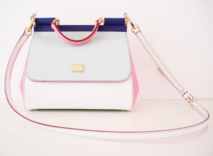 Tutti i passaggi su come organizzare la borsa al meglio. (Modello Sicily by Dolce & Gabbana)