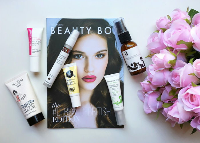 Prodotti beauty box.