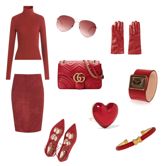 Aurora Red color outfit autunno inverno 2016.