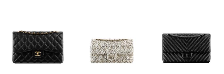 Chanel 2.55 most popular fashion bags.