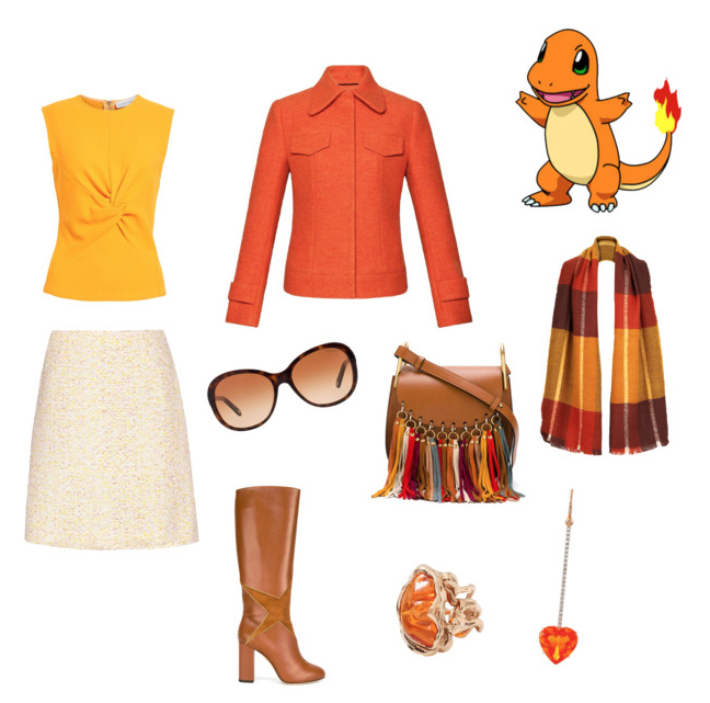 Charmander look idea.