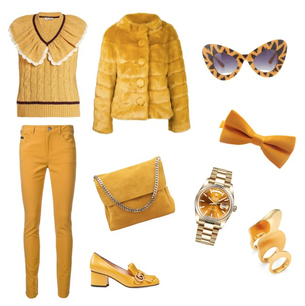 Spicy Mustard seasonal color outfit.