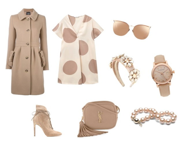 Warm Taupe color outfit.