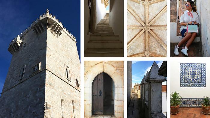 Castello di Estremoz in Portogallo.