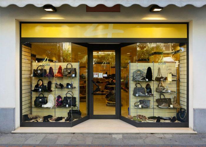 Negozio di scarpe made in Italy.