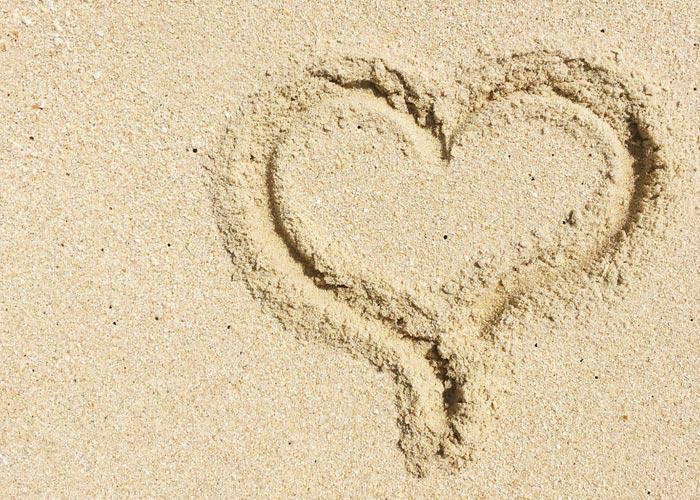 Sabbia della spiaggia di Troia.