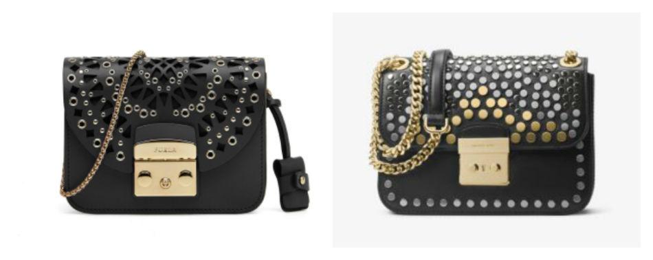 Anche i brand amano copiare. Borsa Furla Metropolis vs borsa Sloan Michael Kors - Even the brands they love to copy. Bag Furla vs Michael Kors.