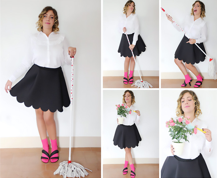 How to be fashion to clean your home.