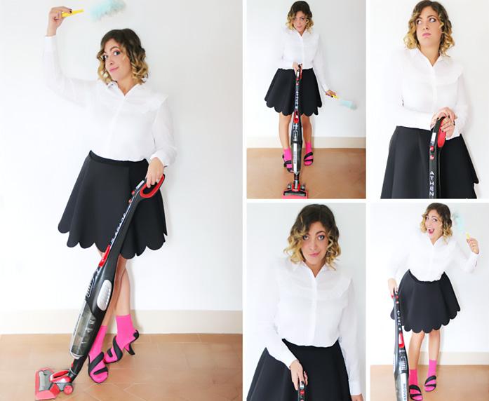 Come indossare sandali e calzini per essere fashion durante le faccende domestiche.