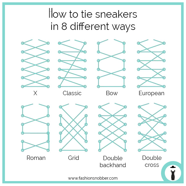 How to tie sneakers shoes in 8 different ways.