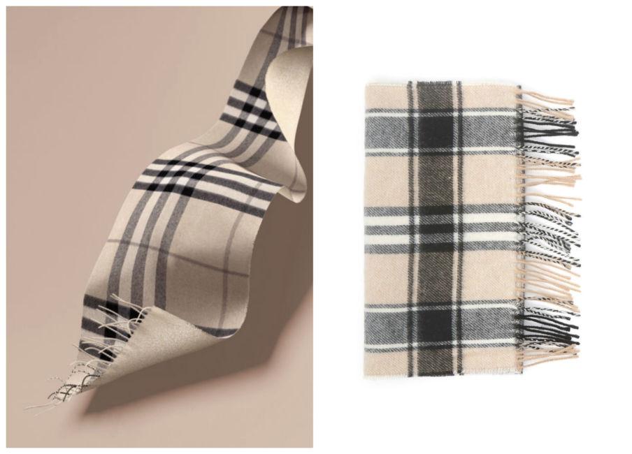 Anche i brand amano copiare. Sciarpa check Burberry vs Diffusione Tessile - Even the brands they love to copy. Burberry check scarf vs Diffusione Tessile.