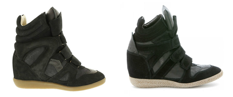 Anche i brand amano copiare. Sneakers Isabel Marant vs Lemaré - Even the brands they love to copy. Sneakers Isabel Marant vs Lemaré.