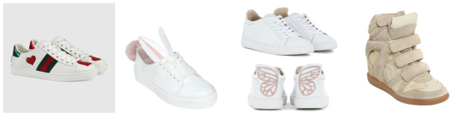 Fashion sneakers, Gucci, Minna Parikka, Sophia Webster and Isabel Marant.