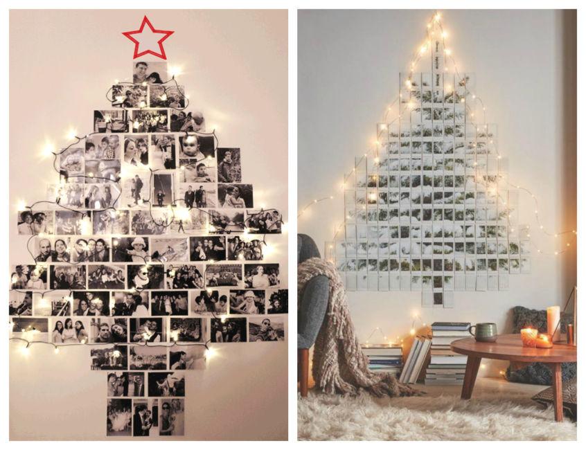 Idee albero di natale fai da te con foto polaroid - Christmas tree polaroid photos ideas DIY.