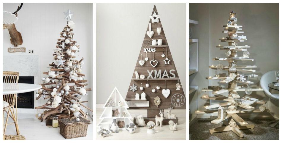 Idee albero di natale in legno - Wood ideas Christmas tree.