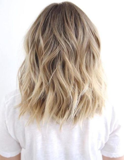 Light blond hair.