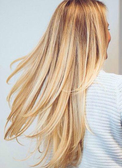 Blond hair.