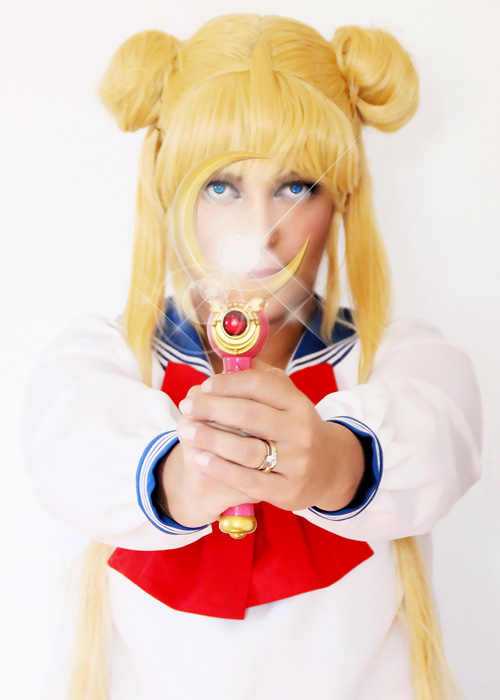 Usagi Tsukino cosplay.