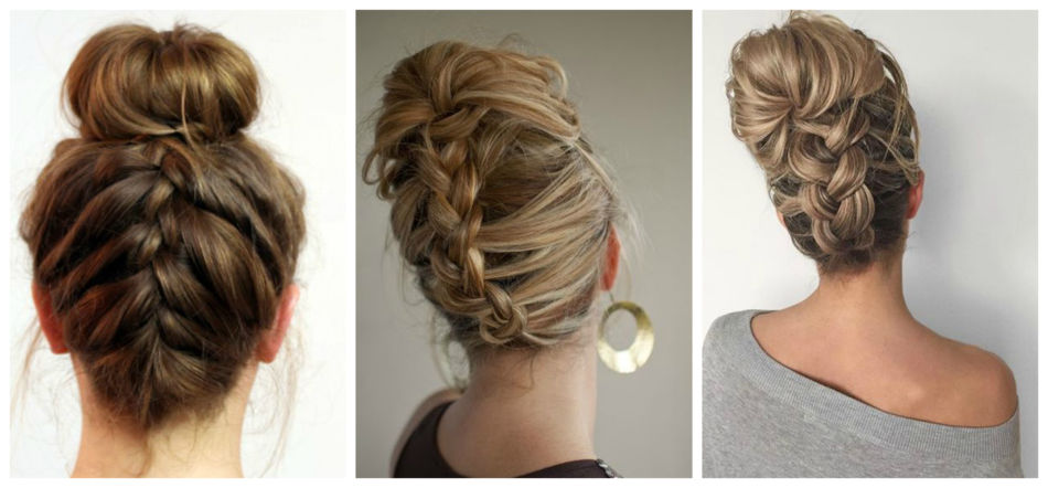 Upside Down French braids.