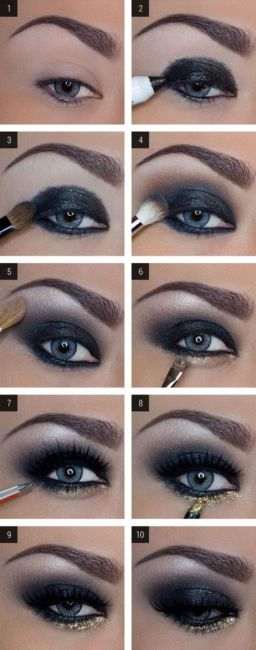 Blue eyes makeup tutorial.