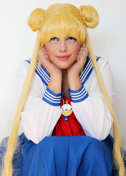 Sailor Moon Crystal cosplay.