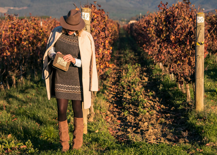 Fall winter outfit country chic.